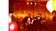 Live dinner music with Chris on guitar and guest artist Paul on sax  - It was New Years Eve 2002!